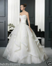 New white/ivory wedding dress bridal gown custom size 2 4 6-8-10-12-14-16-18-20+