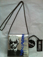NWT Karl Lagerfeld Crossbody Small Bag Chain Strap Macy`s Impulse Silver Clutch