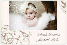 20 Baby GIRL in Fur & BUGGY Shower INVITATIONS Post Cards POSTCARDS
