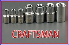 CRAFTSMAN HAND TOOLS 7pc LOT External Torx / Star bit ratchet wrench socket set