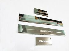 Doors Chrome Sill Scuff Plate Stainless Steel For Chevrolet Sonic 5 Door 2012 13