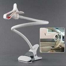 Universal Lazy Bed Desktop Car Mount Kit Holder for Cell Phone iPhone Galaxy WHT