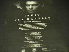 INDIO ...the word is spreading BIG HARVEST 1989 PROMO POSTER AD mint condition
