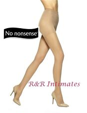 No Nonsense All-Over Shaper Silky Pantyhose, Beige Mist,  Size B