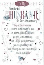 HUSBAND ~ 3-fold Pop-Up ANNIVERSARY CARD ~ From the Say it with words Collection