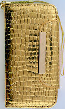 Gold Color Wallet Purse Card Slot PU Leather Case Apple Iphone 5 & 5S