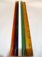 GLASS BLOWING LAMPWORK TUBING BORO PYREX MULTI COLOR 12MM X 2MM HEAVY WALL TUBE
