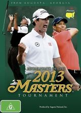 Highlights of the 2013 Masters Golf Tournament DVD NEW