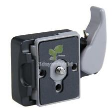 Camera 323 Quick Release Adapter with Black Manfrotto 200PL-14 Compat Plate Set