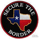 TEXAS FLAG PATCH iron-on SECURE THE BORDER TEA PARTY state embroidered emblem