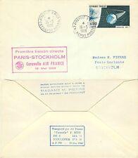 889 - Francia - Volo Air France da Aeroporto di Parigi Orly a Stoccolma, 1966