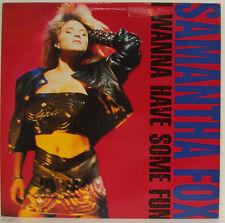 """SAMANTHA FOX - I WANNA HAVE SOME FUN 12"""" LP (f781)"""