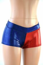 MEDIUM Blue & Red Harlequin Cosplay Costume Low Rise Shorts Ready To Ship!