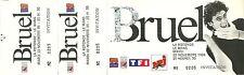 RARE / BILLET TICKET DE CONCERT - PATRICK BRUEL LIVE AU MANS 1994 / COMME NEUF