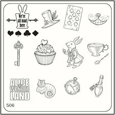 MoYou Nail Fashion Square Stamping Image Plate 506 Alice Style
