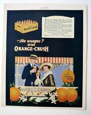 1910-20s Life Magazine Ward's Orange Crush Soda Ad Nice Condition!