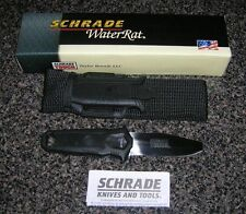 SCHRADE WR1 WATER RAT RIVER RESCUE KAYAK SCUBA DIVE KNIFE BLACK NYLON SHEATH BOX