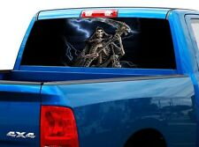 P457 Grim Reaper Rear Window Tint Graphic Decal Wrap Back Truck Tailgate