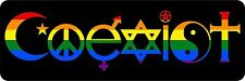 sticker decal car laptop macbook room coexist rainbow peace religious symbol