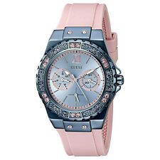 NEW GUESS WATCH Women * Blue Case / Pink Silicone Band * Water Resistant U0775L5