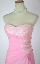 NEW FAVIANA 7167 Pink Strapless Full-Length Formal Bridal Pageant Women Gown 4