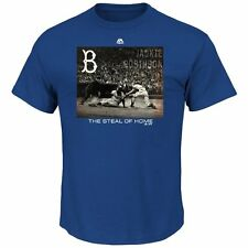 Jackie Robinson Brooklyn Dodgers Genuine Player Cooperstown T-Shirt XL