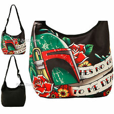 NEW BOBA FETT STAR WARS Cross Over Hobo Bag Purse He's No Good to Me Dead  Text
