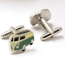 Quality Cufflinks Camper Van Cuff links silver Colour Bus French Shirt Car VW