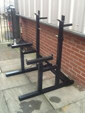 SQUAT RACK BENCH RACK SAFETY CATCHER STANDS OLYMPIC HEAVY DUTY