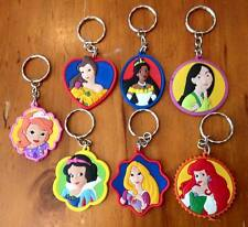 Lot of 7 Disney Princess Keyrings - Perfect for loot bags & party favours
