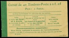 FRANCE : 1906-21. Yvert #137C5 Complete Booklet of 40. VF Mint NH. Catalog €500.