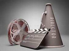 PHOTO FILM DIRECTOR EQUIPMENT CLAPPERBOARD REEL MEGAPHONE ART PRINT MP3919A