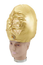 Genie Turban Gold Hat Fancy Dress Adult ARABIAN INDIAN ALADDIN HAT