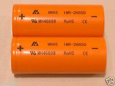 2 pack MNKE 26650 HIGH DRAIN  BATTERY 3.7v Rechargeable  Li-Mn 3500mAh