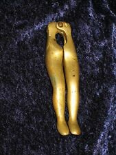 Vintage Lady Woman Beer Bottle Opener Nut Cracker?? Erotic Sexy Legs Nude Brass?