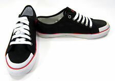 Polo Ralph Lauren Shoes Chancery Athletic Canvas Black/Red Sneakers Size 9