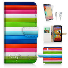 Samsung Galaxy Note 4 Print Flip Wallet Case Cover! Colourful Pattern P0241