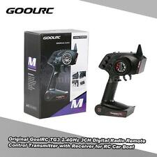 Original GoolRC TG3 2.4GHz 3CH Transmitter with Receiver for RC Car Boat J0X1