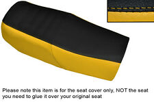YELLOW & BLACK CUSTOM FITS HONDA CB 750 F1 76-78 DUAL LEATHER SEAT COVER