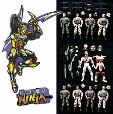 "CIBER NINJA nine figure PLAYSET New Loose 6"" Multi-Pose Figures FREE UK POSTAGE"