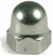 Stainless Steel Cap Acorn Hex Nuts UNC 1/4-20, Qty 25