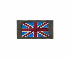 WOVEN UNION JACK SMALL FLAG - CLOTH MATERIAL - SINGLE  BADGE - NEW  WUF1