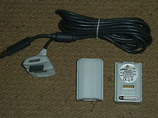MICROSOFT XBOX 360 PLAY & CHARGE KIT NEW! 2 x BATTERY PACKS + USB CHARGING CABLE