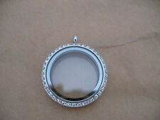 Stainless Steel Pendant Living Memory Floating Charm Magnetic Locket 30mm