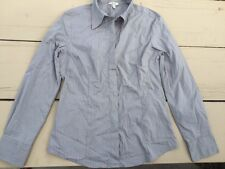 Jacob Connexion Gray Long Sleeve Fitted Button Shirt Size Large