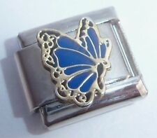 DARK BLUE BUTTERFLY 9mm Italian Charm fits Classic Starter Bracelets  September