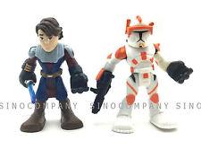 Lot 2 Star Wars Toy Playskool Heroes Anakin Skywalker & Jedi Force Action Figure