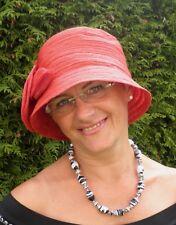 Damenhut im stil der 30ziger Jahre in Rot   Glockenhut   Anlasshüte Hochzeit Hut