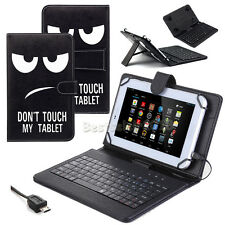 "For Amazon Kindle Fire HD 7"" 2014/2015 PU Stand Case Cover Micro USB Keyboard"