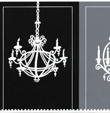 Black, Dark Grey & Light Grey Chandelier Wallpaper Border CD046144B
